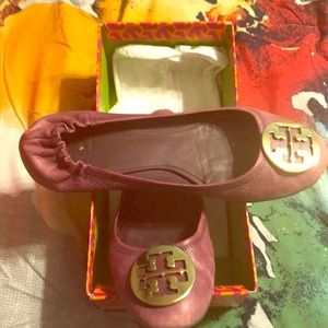Tory Burch Reva Size 11 in purple.